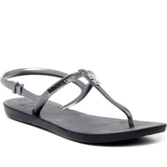 9399d5be1 HAVAIANAS FREEDOM GLAMOUR SANDALS GUNMETAL 11 12